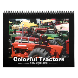 Colorful Tractors Calendar: Customize Year Calendar