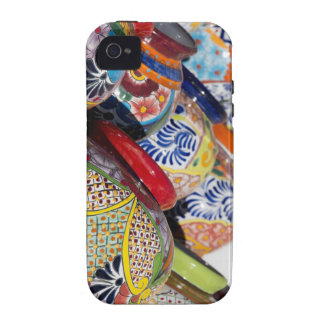 Colorful traditional hand-painted Mexican pottery Vibe iPhone 4 Cover