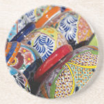 """Colorful traditional hand-painted Mexican pottery Drink Coaster<br><div class=""""desc"""">Cindy Miller Hopkins / DanitaDelimont.com 