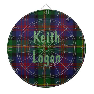 Colorful Traditional Tartan Plaid Dart Board
