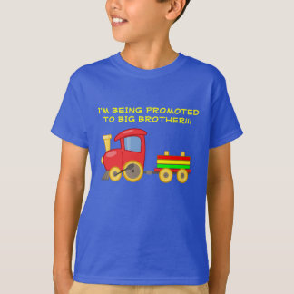 Colorful Train Big Brother Child's Tshirt