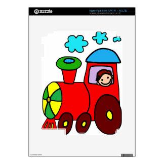 Colorful Train iPad 3 Skin