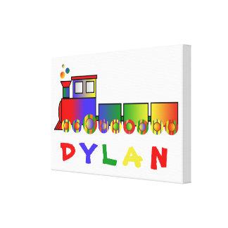 Colorful Train Personalized Canvas Prints
