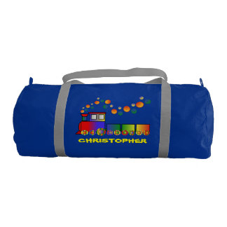 Colorful Train Personalized Gym Bag