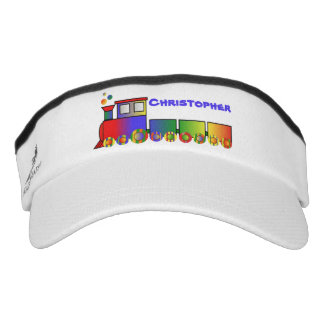 Colorful Train Personalized Headsweats Visor