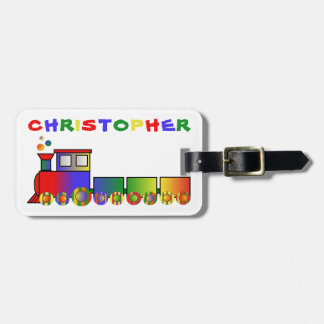 Colorful Train Personalized Luggage Tag