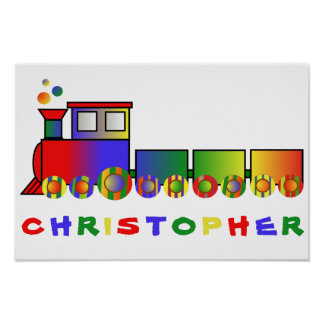 Colorful Train Personalized Poster
