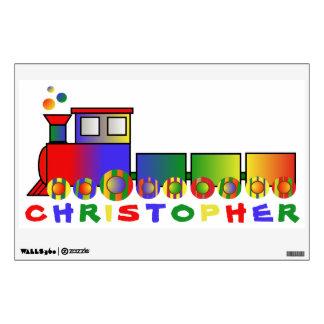 Colorful Train Personalized Wall Sticker
