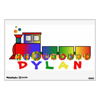 Colorful Train Personalized Room Sticker