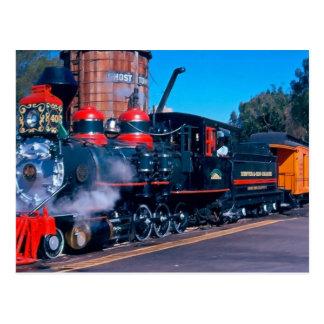Colorful Train postcard