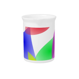 Colorful Translucent Abstract Leaves Beverage Pitcher