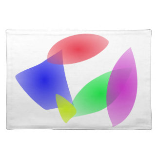 Colorful Translucent Abstract Leaves Cloth Place Mat