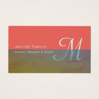 Colorful transparent stripe business card