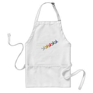 colorful travel airplanes adult apron