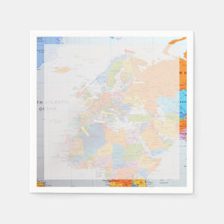 Colorful Travel Map Napkin
