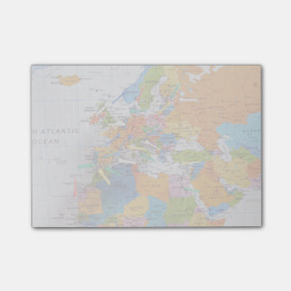 Colorful Travel Map Post-it® Notes
