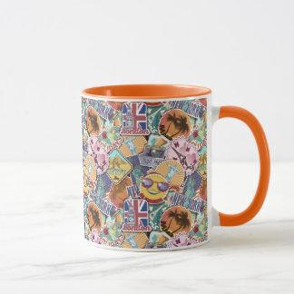 Colorful Travel Sticker Pattern Mug