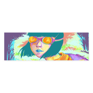 Colorful Traveler Bookmark Double-Sided Mini Business Cards (Pack Of 20)