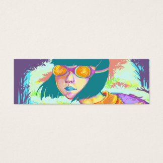 Colorful Traveler Bookmark Mini Business Card