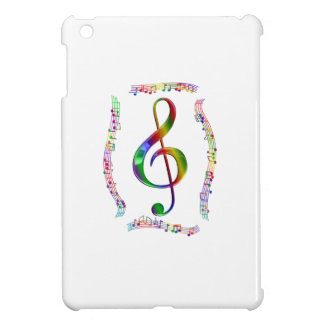 Colorful Treble Clef and Music Notes Case For The iPad Mini