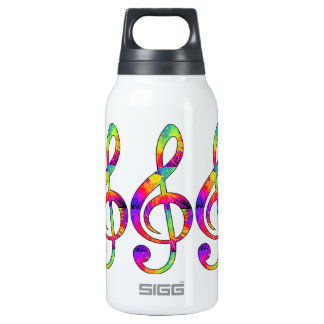 Colorful Treble Clef Insulated Water Bottle