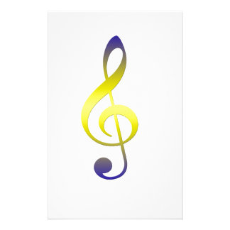Colorful Treble Clef Stationery