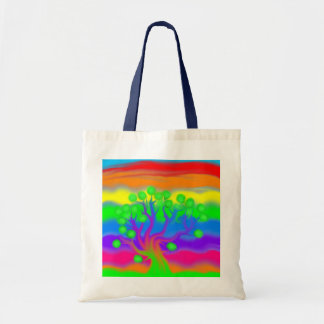 Colorful Tree Budget Tote