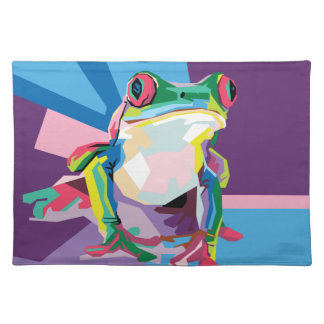 Colorful Tree Frog Portrait Placemat