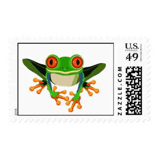 Colorful Tree Frog Stamp
