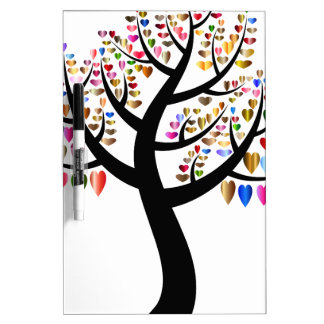 Colorful Tree Heart Dry Erase Board