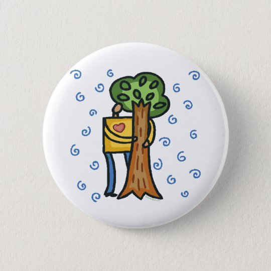 Colorful Tree Hugger Button