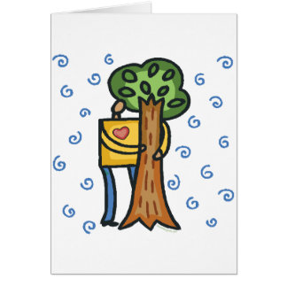 Colorful Tree Hugger Card