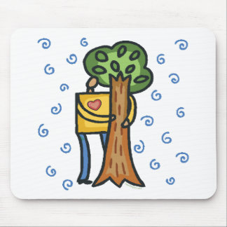 Colorful Tree Hugger Mouse Pad