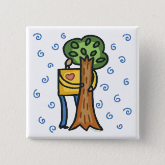 Colorful Tree Hugger Pinback Button