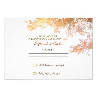 colorful tree leaves elegant rsvp design personalized invite