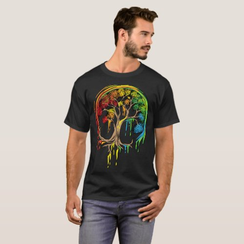 Colorful Tree Life is really good Tree Art Shirt