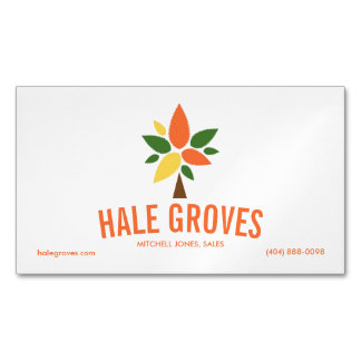Colorful Tree Logo Magnetic Business Card