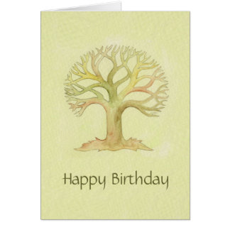 Colorful Tree of Life birthday card