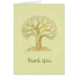 Colorful Tree of Life thank you card