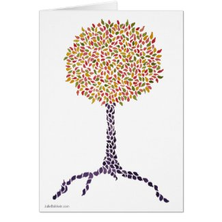 Colorful Tree Painting Card