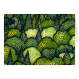 Colorful Tree Tops Greeting Card