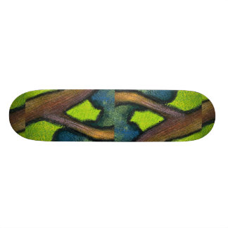 Colorful Tree Trunk Skateboard