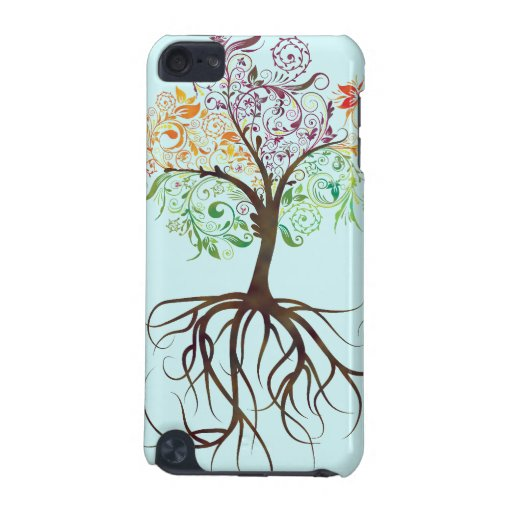 Colorful Tree With Roots IPod Touch Case