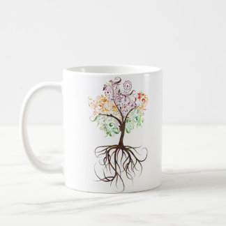 Colorful Tree With Roots Mug