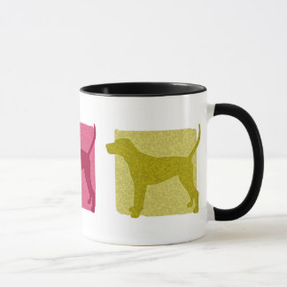 Colorful Treeing Walker Coonhound Silhouettes Mug