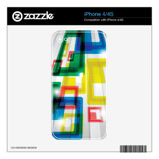 Colorful Trend Abstract Skin For The iPhone 4