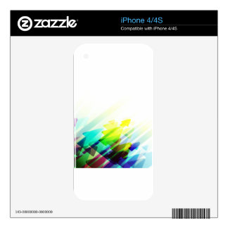 Colorful Trendy Abstract Arrows iPhone 4S Skin