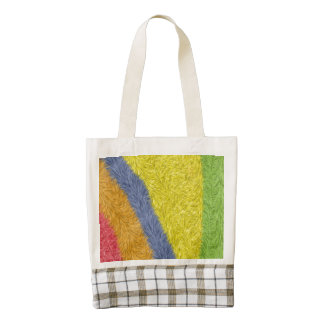 Colorful trendy abstract different pattern zazzle HEART tote bag