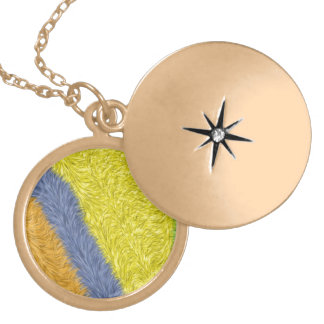 Colorful trendy abstract pattern round locket necklace