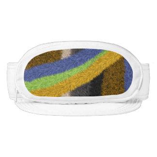 Colorful trendy art pattern visor